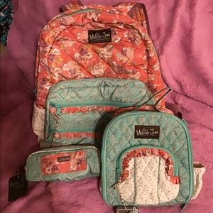 Matilda Jane Backpack 3 piece Set      NWT